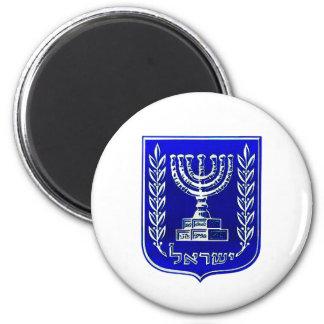 Israel Crest 2 Inch Round Magnet