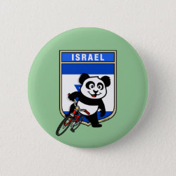 Israel Cycling Panda Round Button