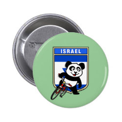 Round Button with Israel Cycling Panda design