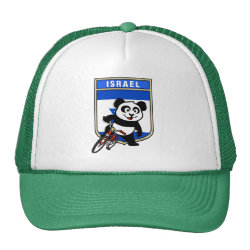 Trucker Hat with Israel Cycling Panda design