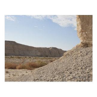 Israel, Dead Sea, desert landscape Postcard