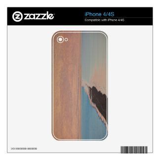 Israel, Dead Sea, Ein Bokek, Dead Sea, dusk 2 Decals For The iPhone 4
