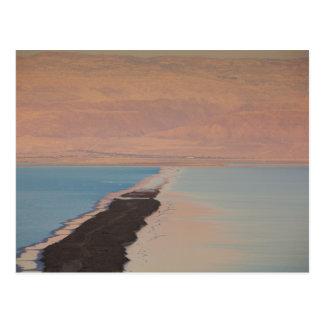 Israel, Dead Sea, Ein Bokek, Dead Sea, dusk 2 Postcard