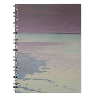 Israel, Dead Sea, Ein Bokek, Dead Sea, dusk Notebook