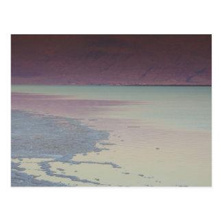 Israel, Dead Sea, Ein Bokek, Dead Sea, dusk Post Card