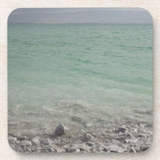 Israel, Dead Sea, seascape Beverage Coaster