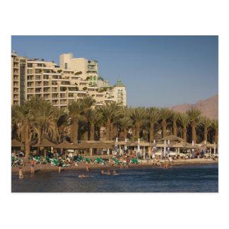 Israel, el Negev, Eilat, Mar Rojo 2 frente al mar Postal