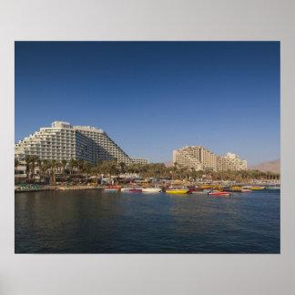 Israel, el Negev, Eilat, Mar Rojo frente al mar Poster