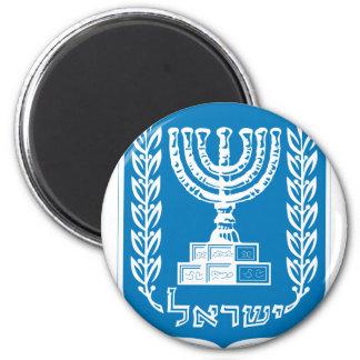 israel emblem 2 inch round magnet