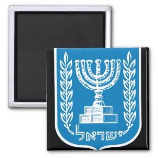 israel emblem 2 inch square magnet