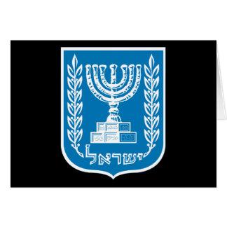 israel emblem card