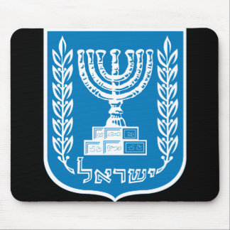 israel emblem mouse pad