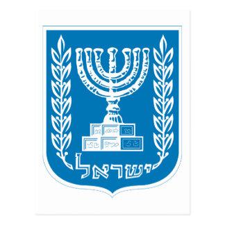 israel emblem postcard