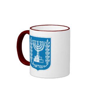 israel emblem ringer mug