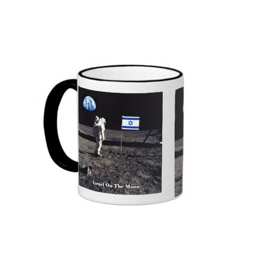 Israel en la luna taza de café