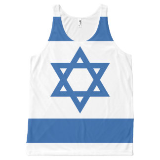 Israel Flag All-Over-Print Tank Top