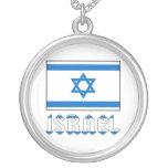 Israel Flag and Name Pendants