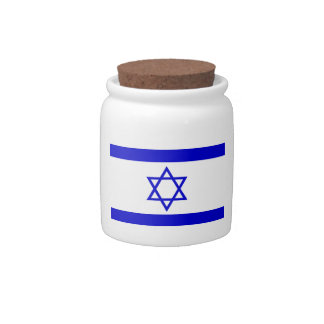 Israel Flag Candy Jars
