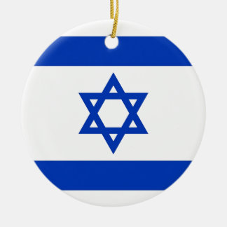 Israel Flag Ceramic Ornament