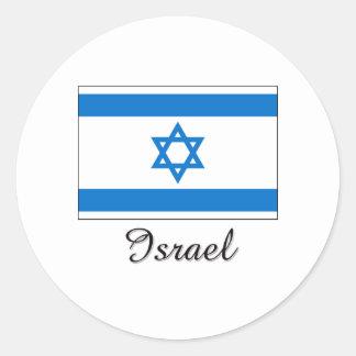 Israel Flag Design Round Stickers