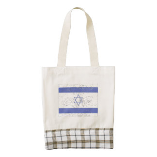 Israel Flag (Distressed) Zazzle HEART Tote Bag