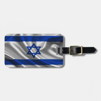 Israel Flag Fabric Tag For Bags