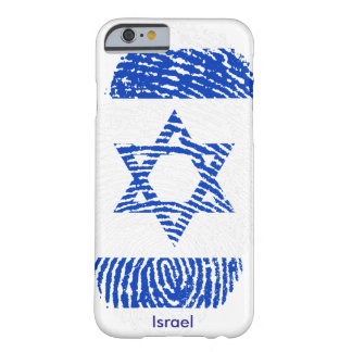 Israel Flag Fingerprint iPhone 6, Barely There Barely There iPhone 6 Case