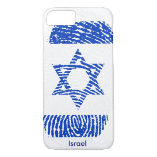 Israel Flag Fingerprint iPhone 7, Barely There iPhone 8/7 Case