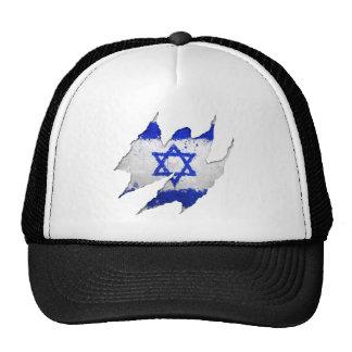 Israel flag graffiti rip trucker hat