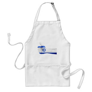 Israel Flag Hand National Fingers Patriotic Adult Apron