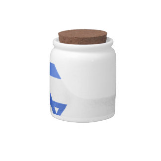 Israel Flag Hand National Fingers Patriotic Candy Jar