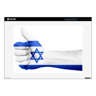 """Israel Flag Hand National Fingers Patriotic Decal For 15"""" Laptop"""