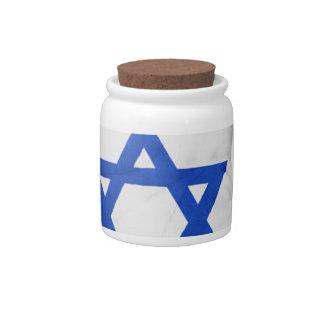 Israel Flag Hand National Fingers Patriotic Wave Candy Jar