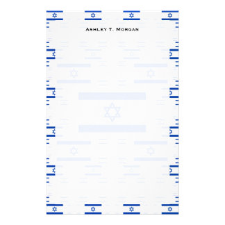 Israel Flag in Multiple Colorful Layers 2 Stationery