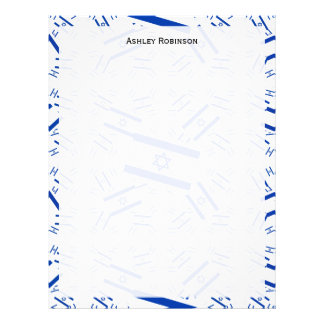 Israel Flag in Multiple Colorful Layers Askew Letterhead