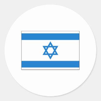 Israel FLAG International Round Stickers