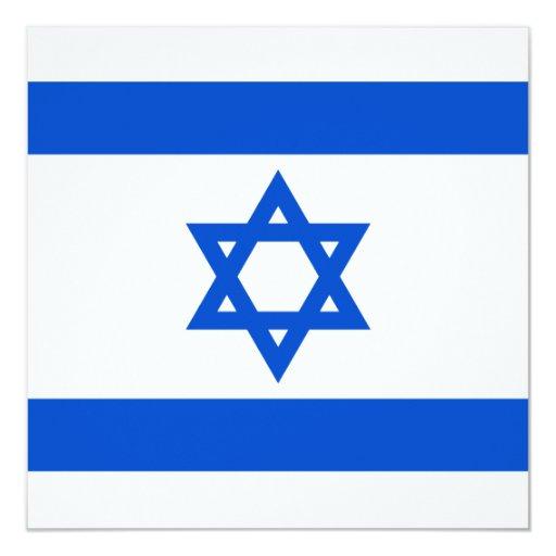 "Israel Flag Invitation 5.25"" Square Invitation Card"
