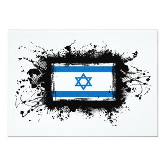 "Israel Flag 5"" X 7"" Invitation Card"