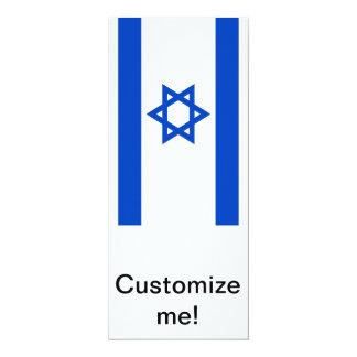 "Israel Flag 4"" X 9.25"" Invitation Card"