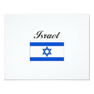 "Israel Flag 4.25"" X 5.5"" Invitation Card"
