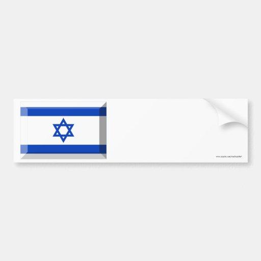 Israel Flag Jewel Bumper Stickers
