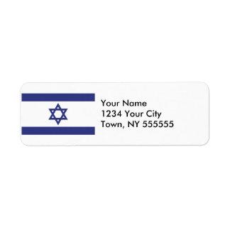 Israel Flag Return Address Label