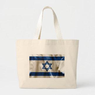 Israel Flag Large Tote Bag