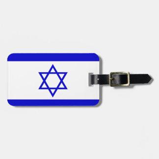 Israel Flag Bag Tags