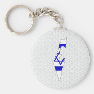 Israel Flag Map full size Basic Round Button Keychain