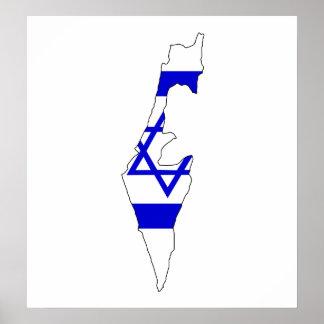 Israel Flag Map full size Poster