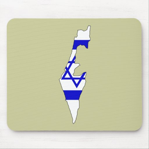 Israel flag map mouse pad