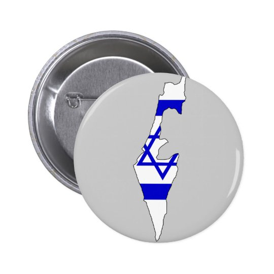 Israel flag map pinback button