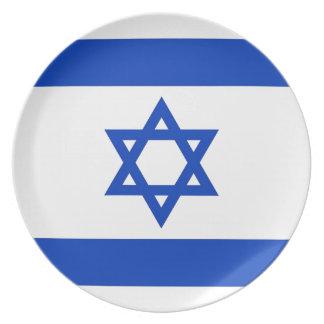 Israel Flag Melamine Plate