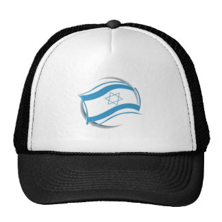 ISRAEL FLAG - modern rendering Trucker Hat